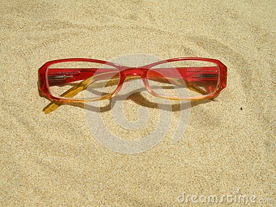 Red eyeglasses