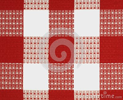 Red fabric design