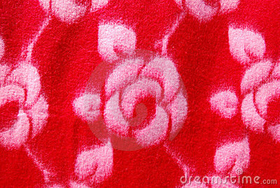 The red fabric design flower.