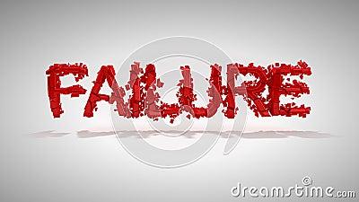 Red Failure word destruction