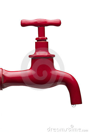 Free Red Faucet Stock Photography - 2539672