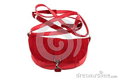 Red female purse