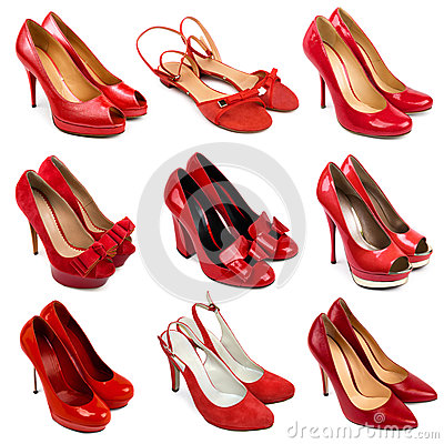 Red female shoes-3