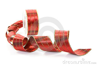 Red festive ribbon