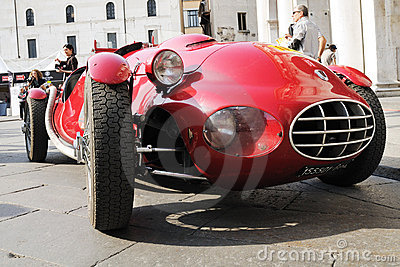 Red Fiat 1100 Gilco vintage car Editorial Photo