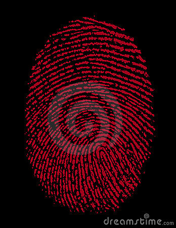 Red Fingerprint Identity Crime
