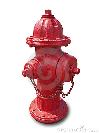 Red fire hydrant, isolated