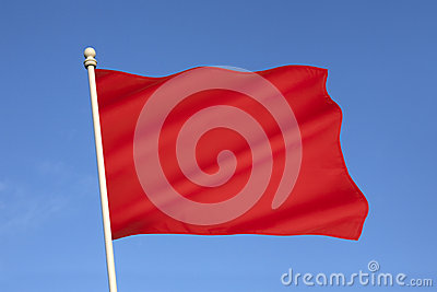 Red Flag of Danger