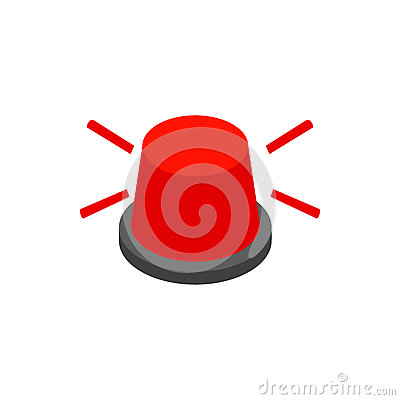 Stop Sign With Flashing Light Stock Vector - Image: 40321769