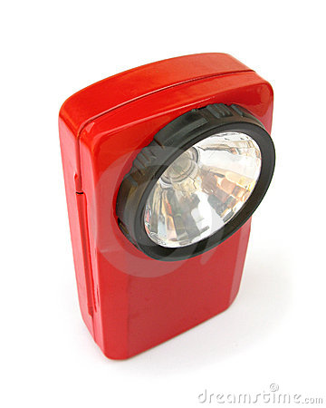 Red flashlight