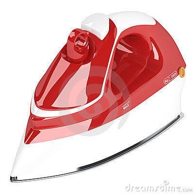 Red flat iron