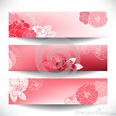 Red Floral banners