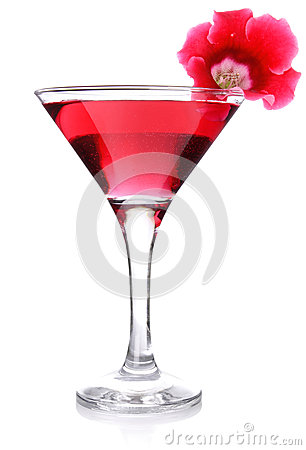 Red floral cocktail
