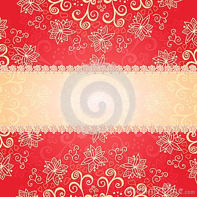 Free Red Floral Ornament Background Stock Photo - 29574160