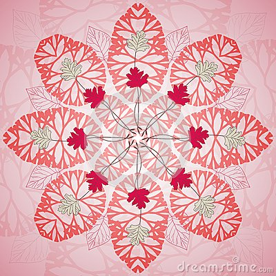 Free Red Floral Ornament  Background Stock Photo - 30083850
