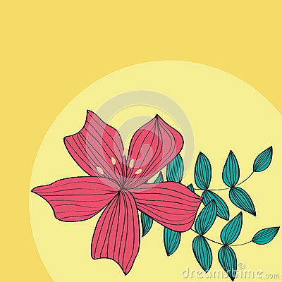 Red flower card pattern design