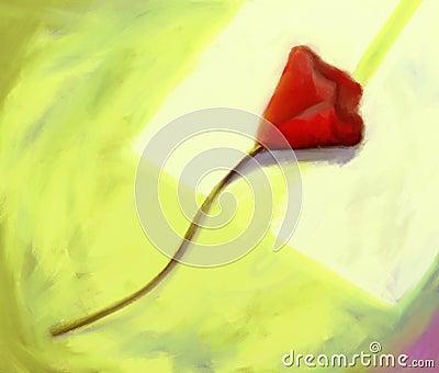 Red Flower - Digital Painting