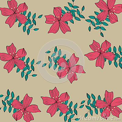 Red flower pattern background