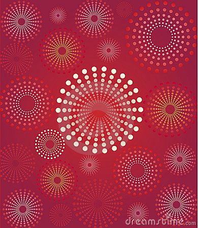 Free Red Flower Retro Background Royalty Free Stock Images - 8693419