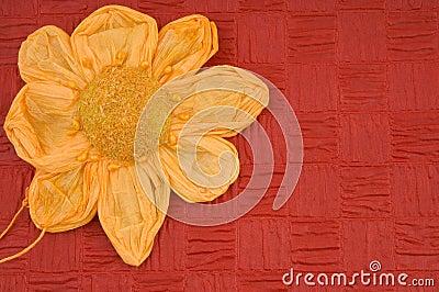 Red Flower spring card