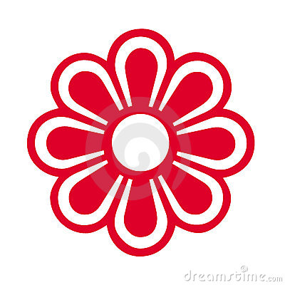 Red Flower Symbol Royalty Free Stock Images - Image: 8397739