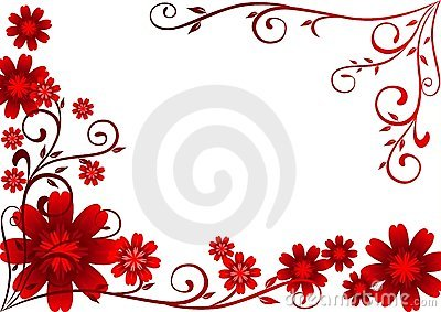 Red Flowers Ornament
