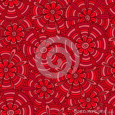Red flowers with strips