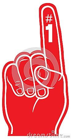 Red foam finger