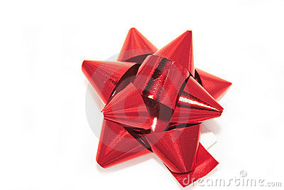 Red foil bow
