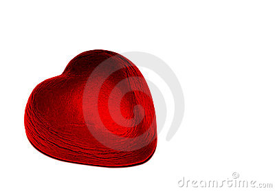 Red foil chocolate heart