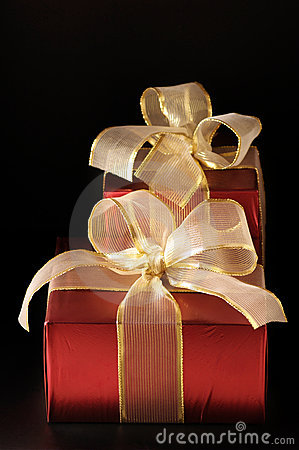 Red foil gifts