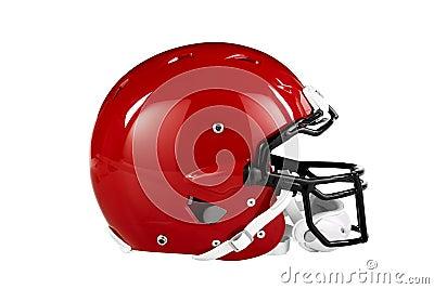 Red Football Helmet Side View
