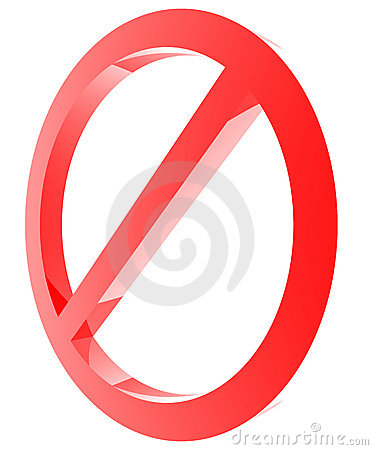 Red forbidden sign