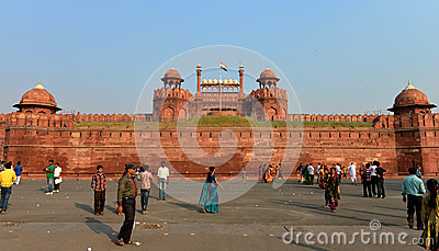 Red Fort, New Delhi Editorial Stock Photo