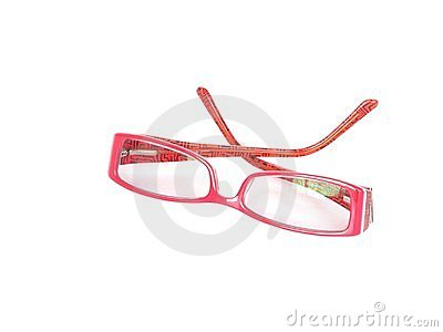 Red framed spectacles