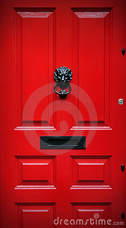 Free Red Front Door Royalty Free Stock Photo - 20586545