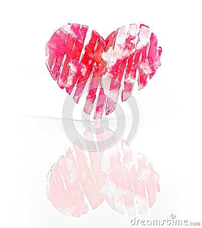 Red frozen heart