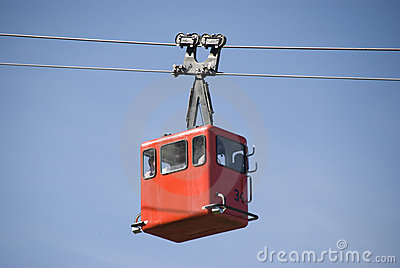 Red funicular