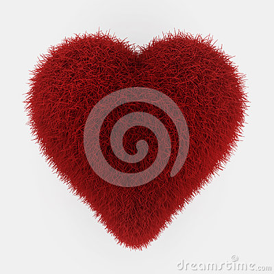 Red fur heart