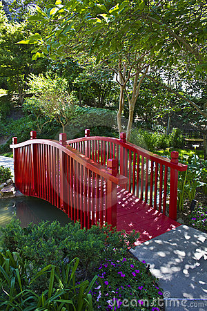 Red Garden Bridge