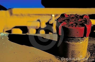 Red Gas Cap Stock Photo