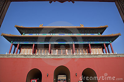 Red Gate Doors Forbidden City Beijing