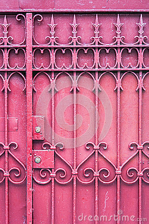 Red Gate with Lock