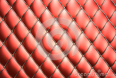 Red genuine leather pattern background