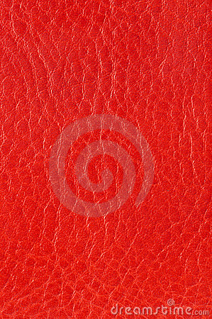 Red genuine leather texture