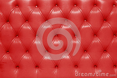 Red genuine leather upholstery