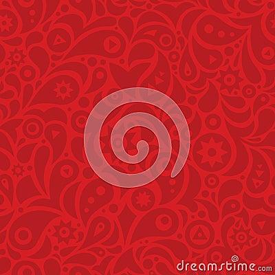 Red geometric seamless pattern