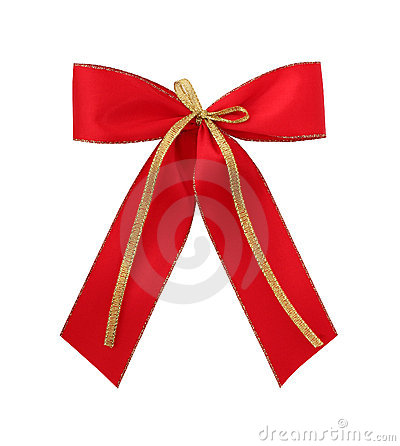 Free Red Gift Bow Stock Photography - 2223582