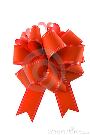 Free Red Gift Bow Royalty Free Stock Photos - 3406578