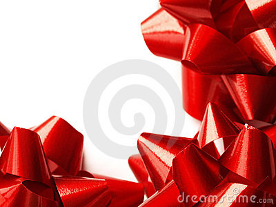 Red gift bows - Christmas